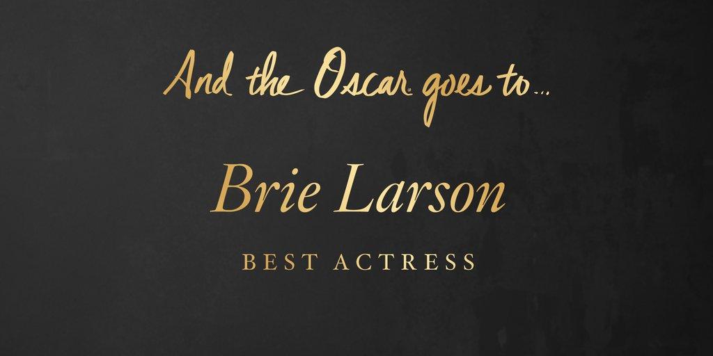 CASTIGATOARE OSCAR 2016 Cea mai buna actrita in rol principal - Brie Larson – Room