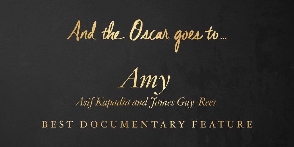 CEL MAI BUN LUNG METRAJ DOCUMENTAR - AMY - Castigatori Oscar 2016