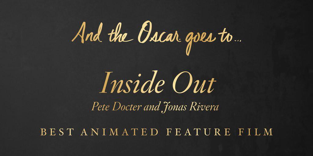 Cel mai bun film animat – INSIDE OUT