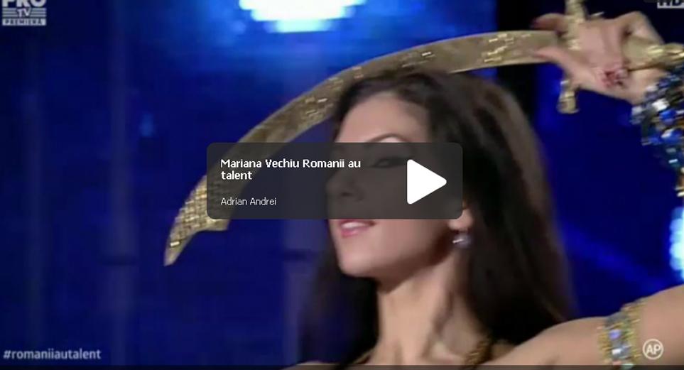 Romanii au talent: Mariana Vechiu belly dance