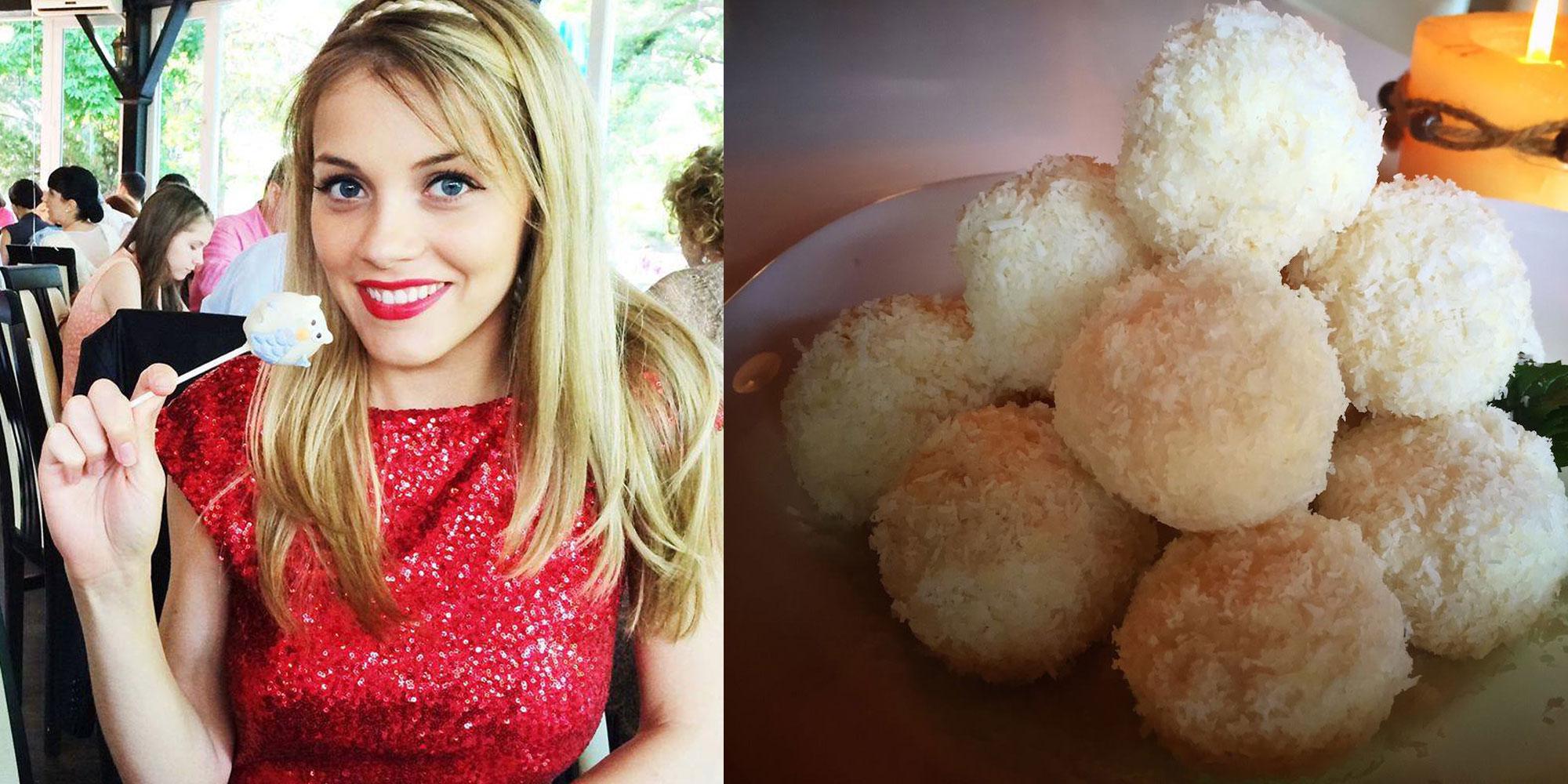 Reteta raw. Bomboane din fulgi de cocos - desert recomandat de Andreea Ibacka