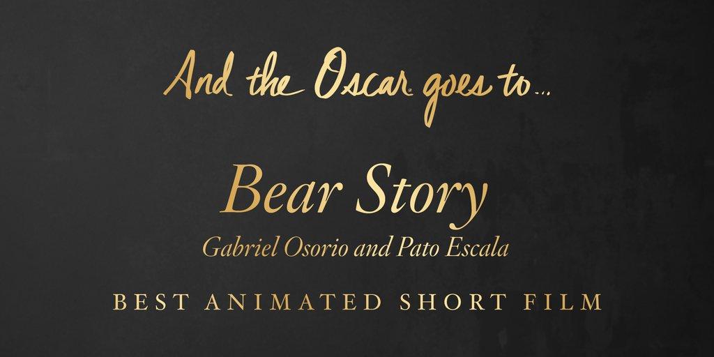 castigatori oscar 2016 Cel mai bun scurtmetraj animat Bear Story (Gabriel Osorio şi Pato Escala)