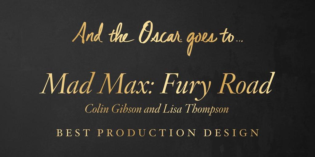 "Cea mai buna scenografie – ""Mad Max: Fury Road"""