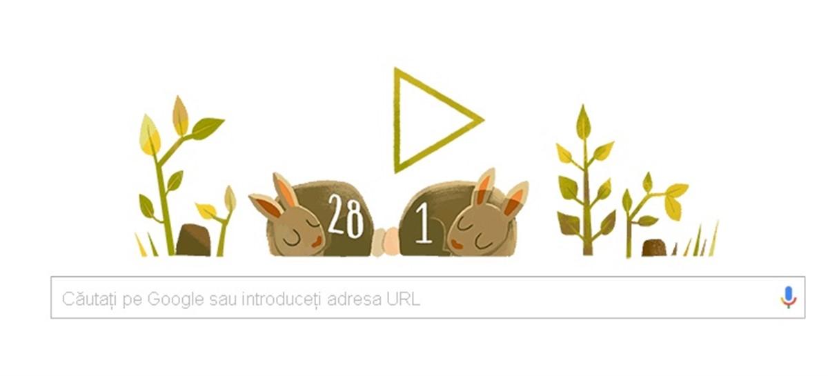 Google doodle 29 februarie. Google a pregatit un doodle special cu iepuri pentru a marca ziua de 29 februarie care face ca anul 2016 sa fie bisect.