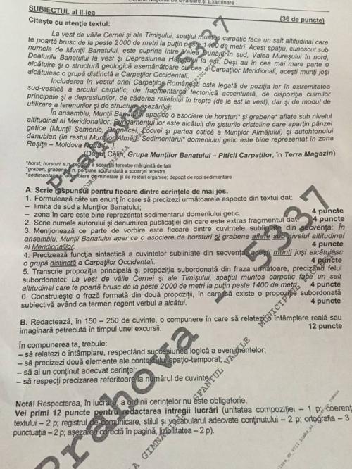 subiecte evaluare nationala 2016 romana 2