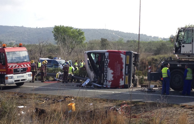 Accident in Spania. 14 studenti Erasmus au murit dupa ce autocarul in care se aflau s-a rasturnat pe autostrada