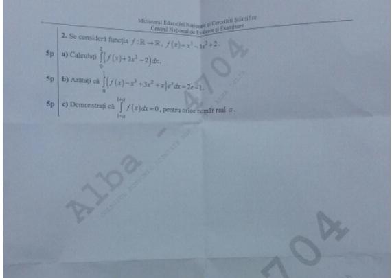 subiecte matematica tehnlogic bac 2