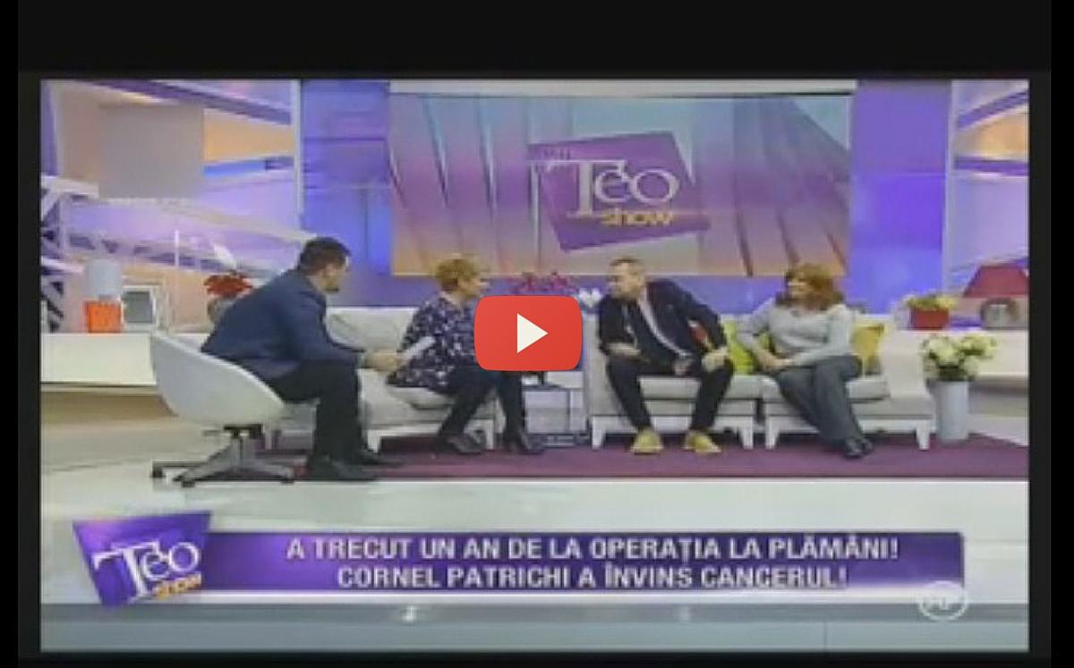 Cornel Patrichi a aparut ultima oara la tv in emisiunea lui Teo Trandafir de la Kanal D, in data de 28 ianuarie 2016.