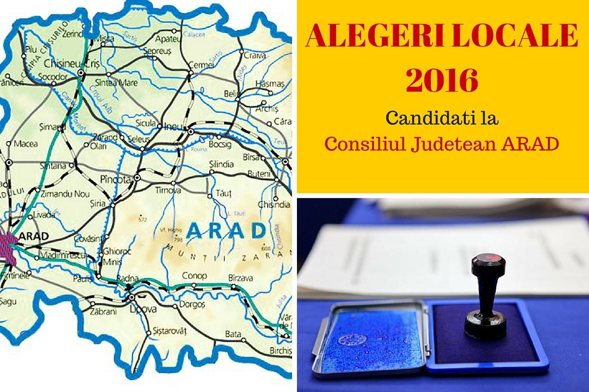 Candidati Consiliul Judetean Arad la alegerile locale din 2016. Vezi aici cine candideaza pentru functia de consilier si cum va fi ales presedintele CJ.