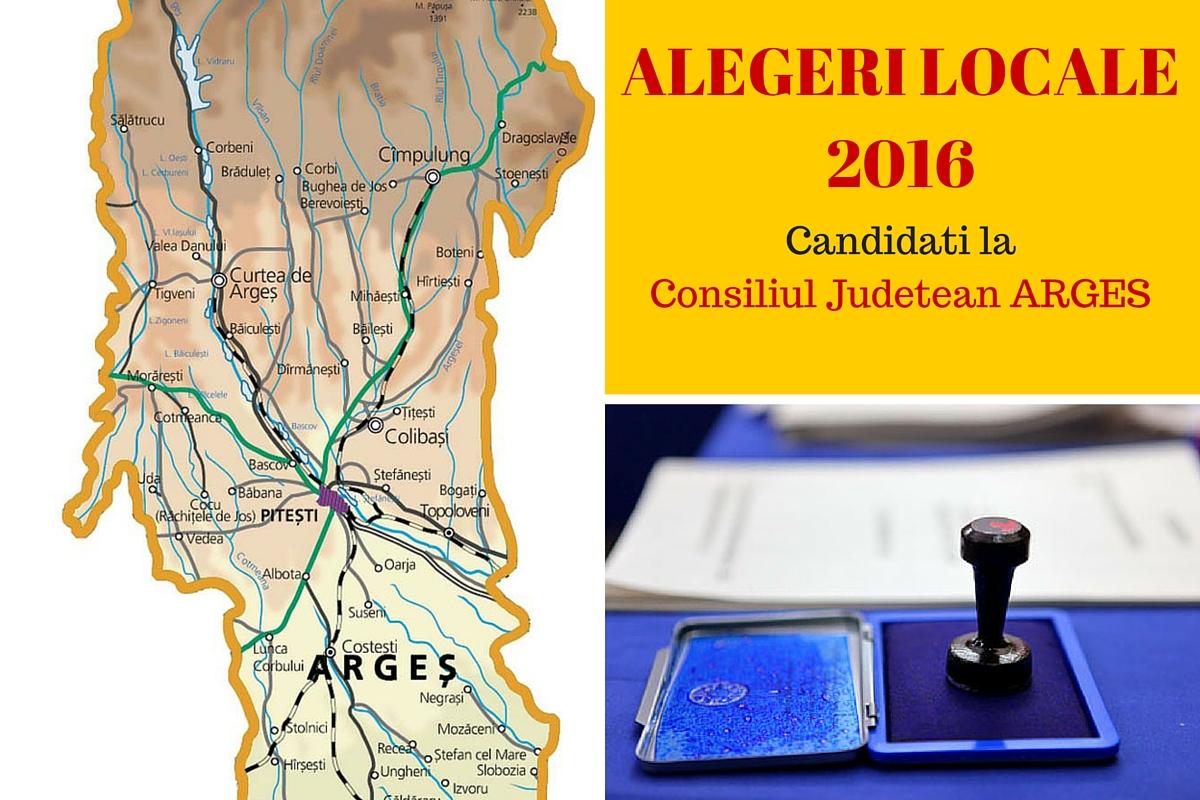 Candidati Consiliul Judetean Arges la alegerile locale din 2016. Vezi aici cine candideaza pentru functia de consilier si cum va fi ales presedintele CJ.