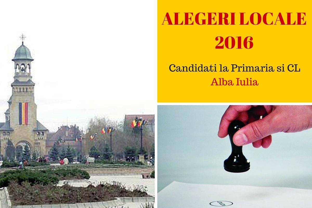 Alegerile locale din 2016 au loc in 5 iunie. Cetatenii din Alba Iulia sunt chemati la vot pentru a-si alege primarul. Iata cine sunt candidatii!