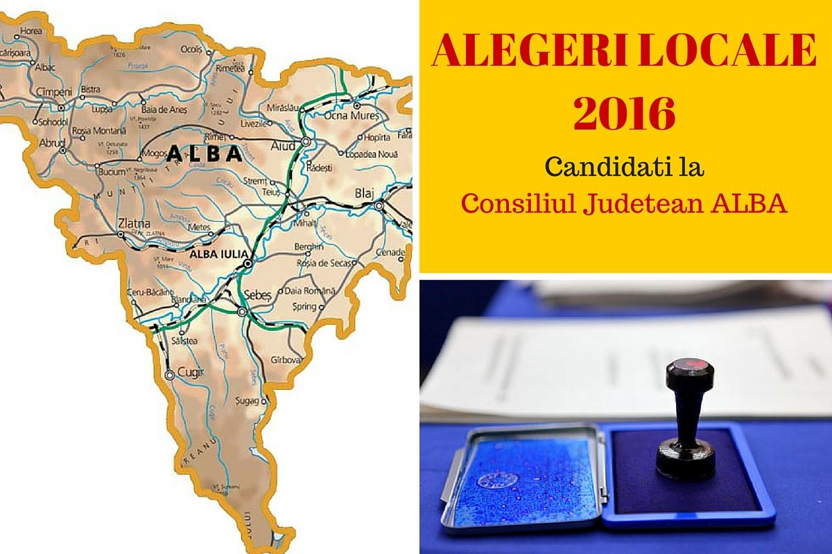 Candidati Consiliul Judetean Alba la alegerile locale din 2016. Vezi aici cine candideaza pentru functia de consilier si cum va fi ales presedintele de CJ.