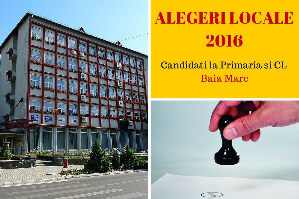 Candidati la Primaria Baia Mare la alegerile locale din 2016. Cine candideaza pentru postul de primar si pentru Consiliul Local.