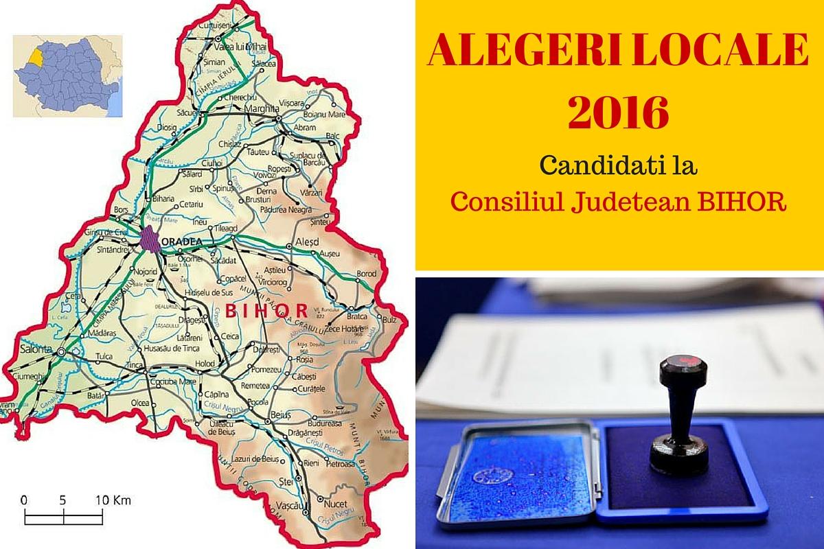 Candidati Consiliul Judetean Bihor la alegerile locale din 2016. Vezi aici cine candideaza pentru functia de consilier si cum va fi ales presedintele CJ.