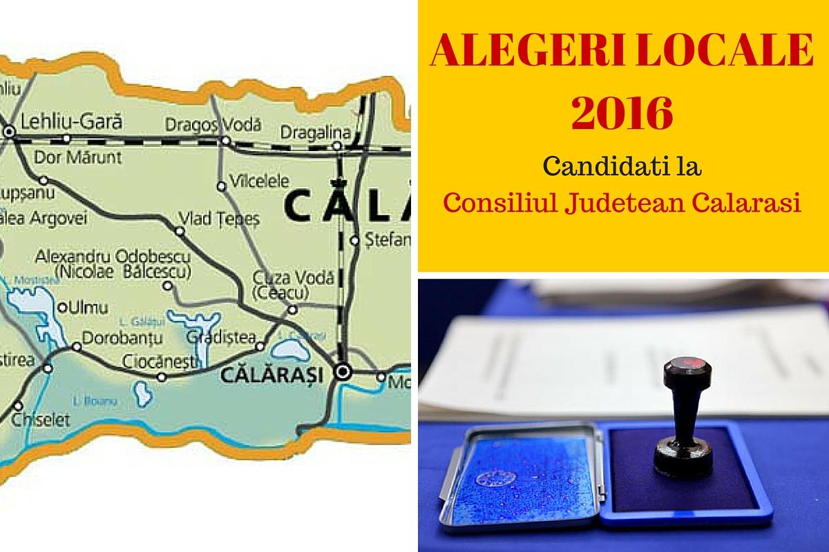 Candidati Consiliul Judetean Calarasi la alegerile locale din 2016. Vezi aici cine candideaza pentru functia de consilier si cum va fi ales presedintele CJ.