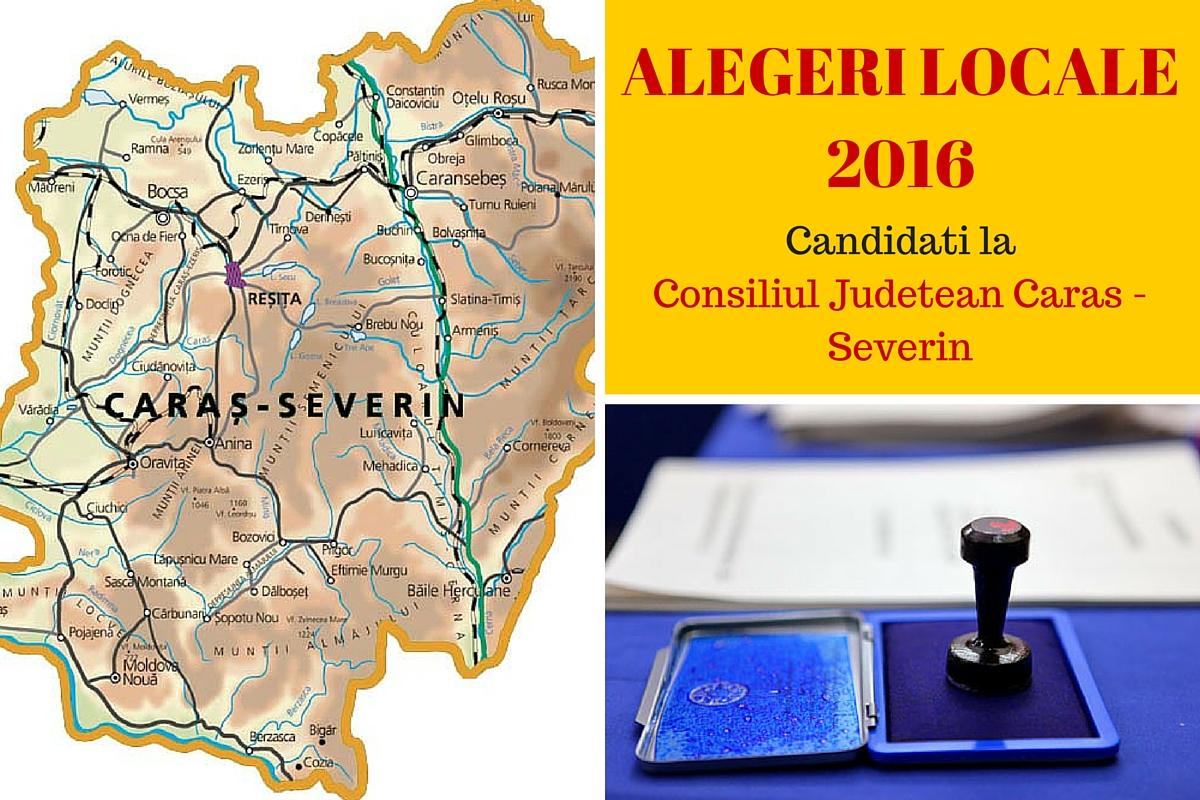ALEGERI LOCALE 2016. Candidati Consiliul Judetean Caras-Severin