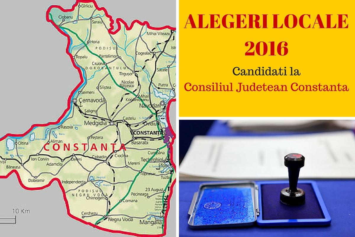 ALEGERI LOCALE 2016. Candidati Consiliul Judetean Constanta
