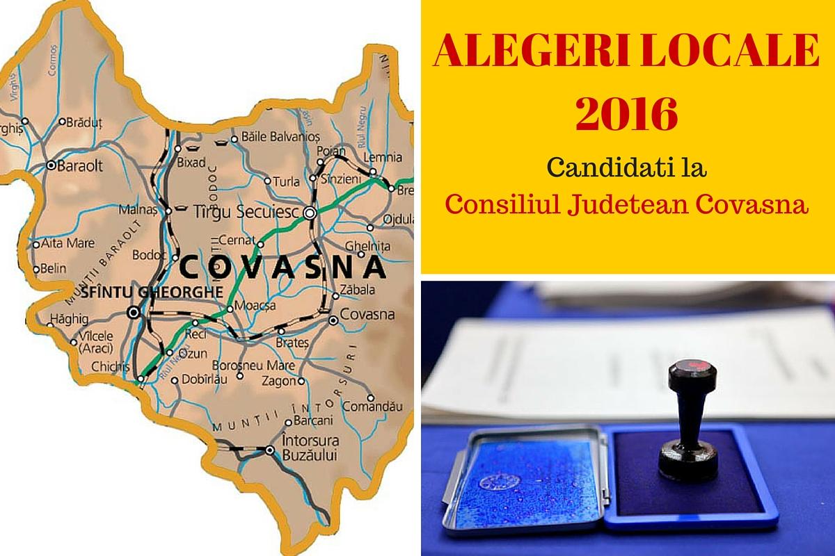 ALEGERI LOCALE 2016. Candidati Consiliul Judetean Covasna