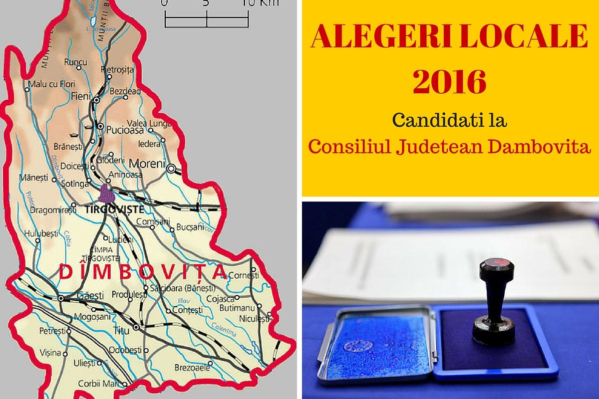 Candidati Consiliul Judetean Dambovita la alegerile locale din 2016. Vezi aici cine candideaza pentru functia de consilier si cum va fi ales presedinte CJ.