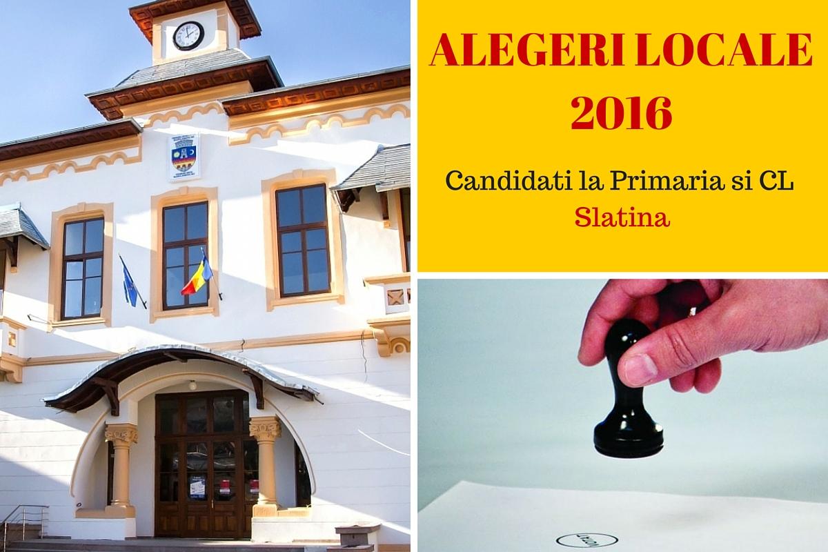 Candidati la Primaria Slatina la alegerile locale din 2016. Cine candideaza pentru postul de primar si pentru Consiliul Local.