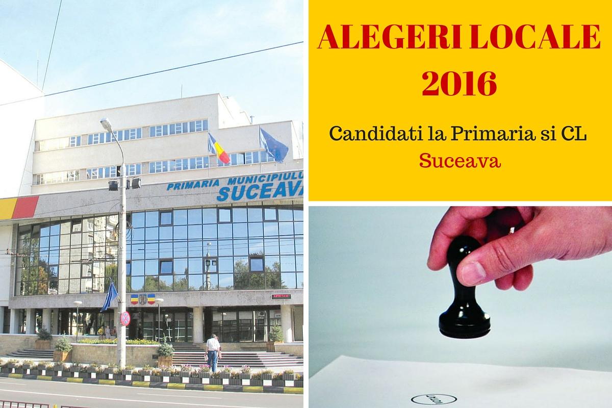 Candidati la Primaria Suceava la alegerile locale din 2016. Cine candideaza pentru postul de primar si pentru Consiliul Local.