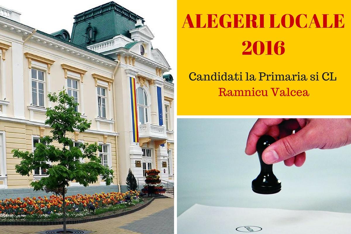 Candidati la Primaria Ramnicu Valcea la alegerile locale din 2016. Cine candideaza pentru postul de primar si pentru Consiliul Local.