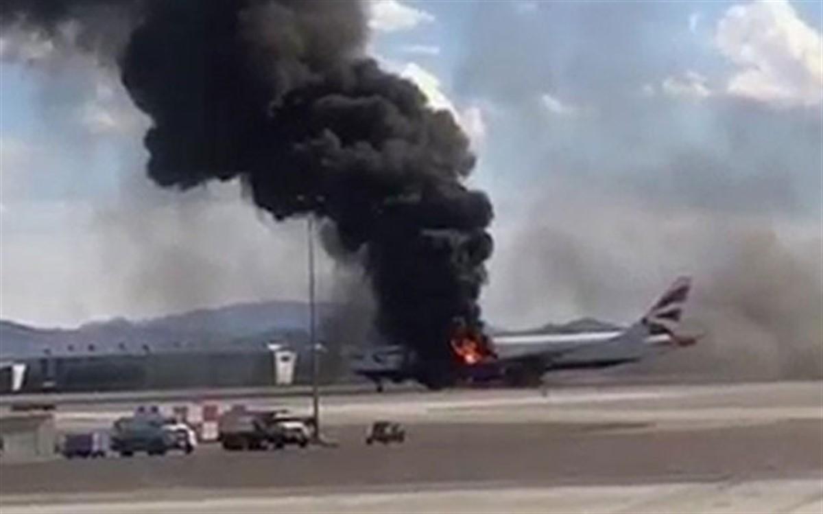Un avion apartinand companiei Korean Air a luat foc pe pista, inainte sa decoleze. 319 oameni au fost evacuati!