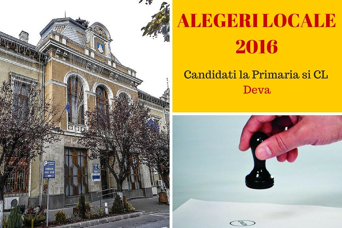 Candidati la Primaria Deva la alegerile locale din 2016. Cine candideaza pentru postul de primar si pentru Consiliul Local.