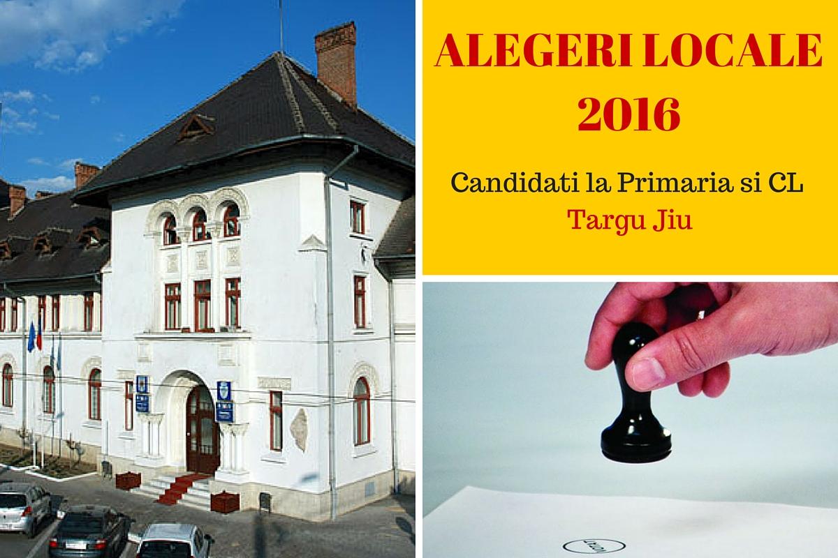ALEGERI LOCALE 2016. Candidati Primaria Targu Jiu