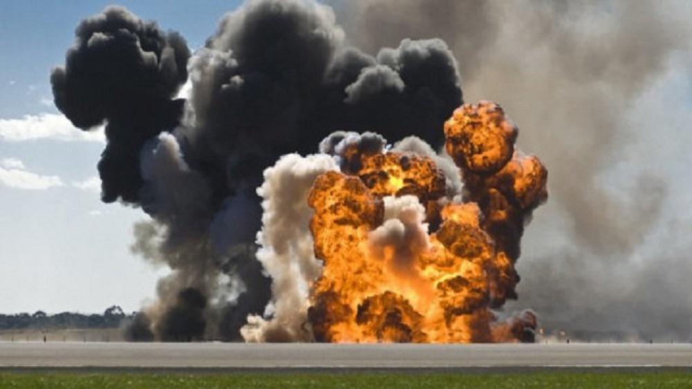 Accident groaznic la Mihailesti, unde a explodat un TIR cu 800 de butelii