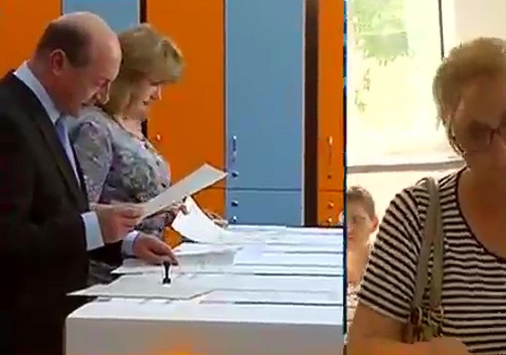 ALEGERI LOCALE 2016. Fostul presedinte, Traian Basescu, a votat. Ce a declarat