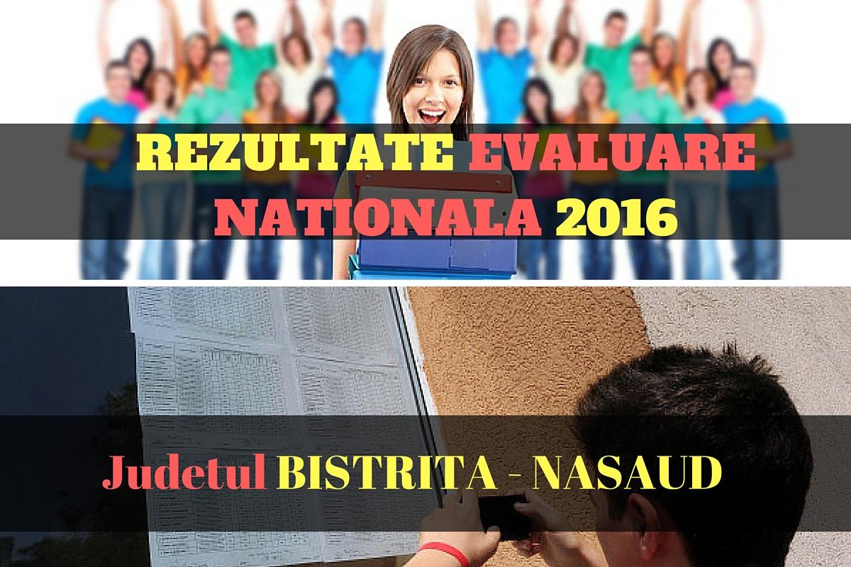 Rezultate Evaluare Nationala 2016 in judetul BISTRITA. Edu.ro publica vineri, 1 iulie 2016, notele obtinute de elevi la evaluarea nationala din acest an.