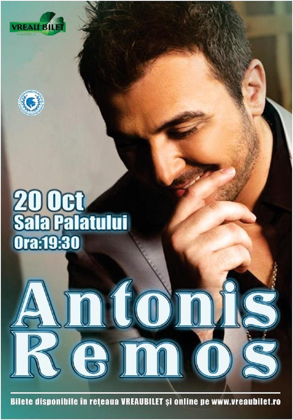 Antonis Remos, celebra voce pop a Greciei, va concerta la Bucuresti