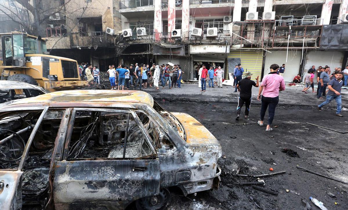 Atentat terorist cu masina capcana la Bagdad: 14 morti si 30 de raniti