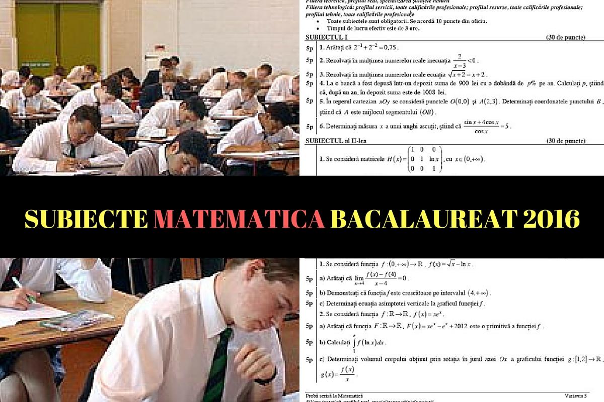 subiecte matematica 2016, subiecte bac 2016 matematica, subiecte m2, subiecte m3