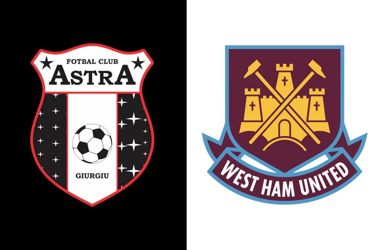 Astra Giurgiu si West Ham United se intalnesc din nou in Europa League. Cele doua formatii vor juca in playoff-ul acestei competitii.