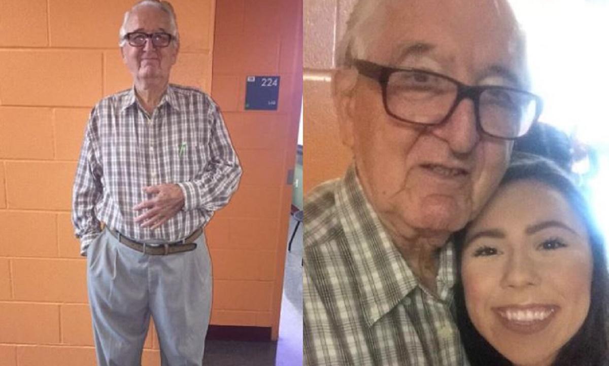Melanie Salazar si bunicul sau de 82 de ani au inceput primul an la Colegiul Palo Alto, din San Antonio, Texas