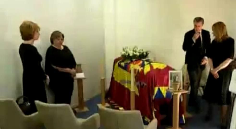 Casa Regala a organizat o ceremonie religioasa pentru Regina Ana, in Elvetia. Reporterii TVR au avut acces la eveniment si au surprins imagini cu sicriul.