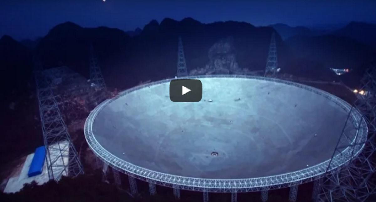 China inaugurează cel mai mare radiotelescop din lume. VIDEO