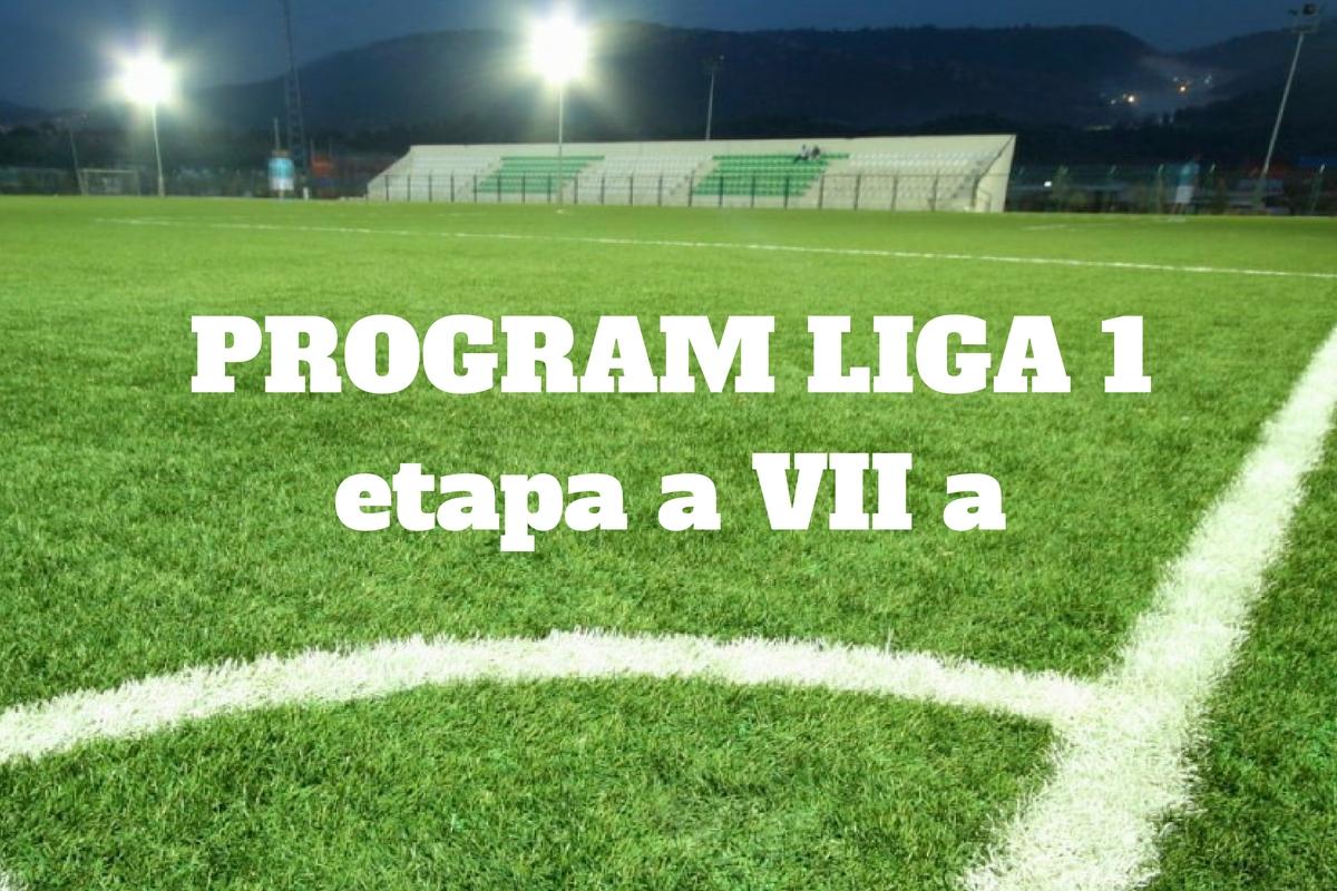 Program Liga 1 etapa 7: Meciurile care se disputa in aceasta etapa a Ligii 1. Programul complet al meciurilor si orele de televizare.