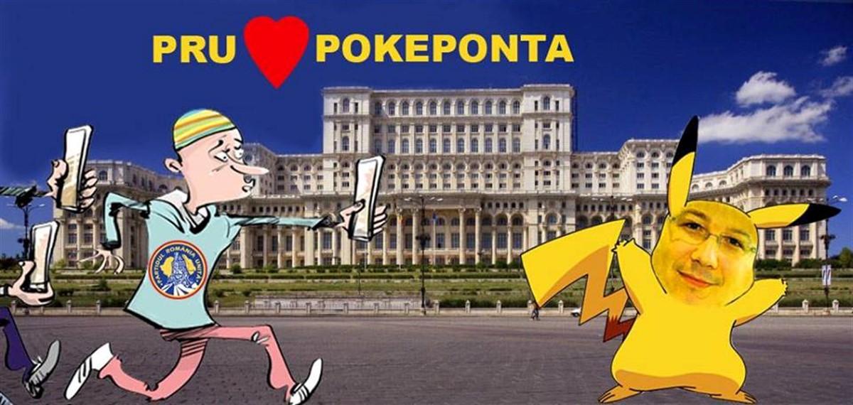 """Bogdan Diaconu (PRU) a demarat o campanie inspirata de jocul Pokemon Go pentru a-l aduce pe Victor Ponta in partidul sau, intitulata """"PokePonta""""."""