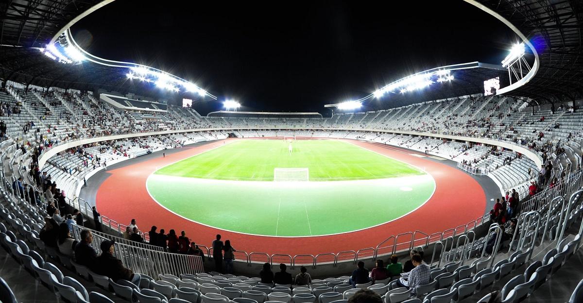 Gazonul de pe Cluj Arena nu se prezinta in conditii bune inainte de meciul dintre Romania si Muntenegru din preliminariile CM 2018.