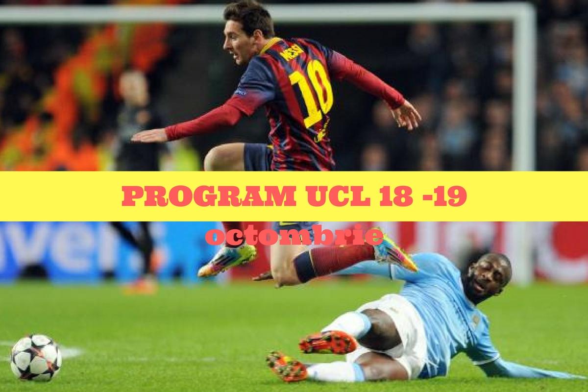Program Liga Campionilor 18-19 octombrie 2016. Ce meciuri se dispută în etapa a III a și cine televizează partidele din această rundă a UCL.