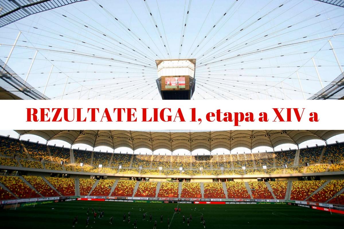 Rezultate Liga 1, etapa a XIV a. Rezultatele complete, marcatorii și clasamentul Ligii 1, după 14 etape disputate. Cine este pe primul loc.