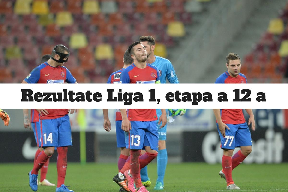 Rezultate Liga 1 etapa 12. Steaua a fost învinsă de Gaz Metan Mediaș. Vezi aici rezultatele complete ale etapei și marcatorii.