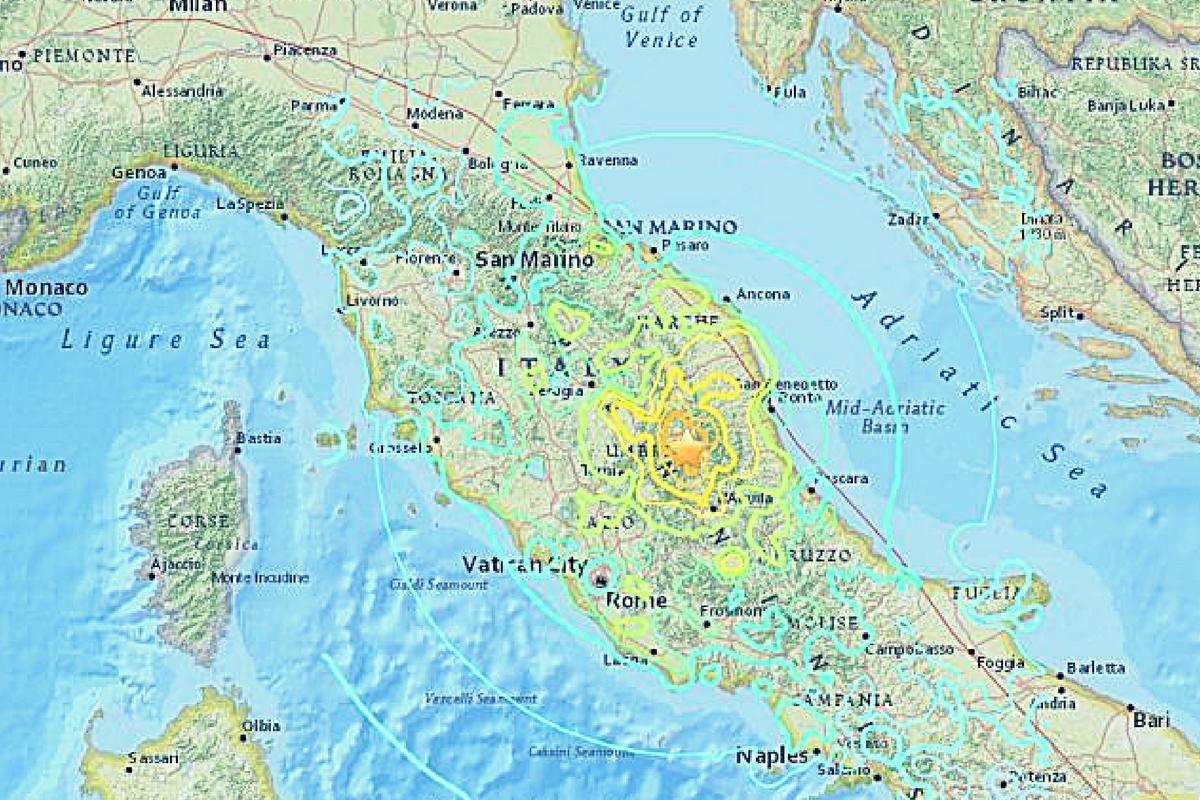 Un nou cutremur a zguduit Italia, joi, 27 octombrie 2016. Seismul a avut o magnitudine de 4.4 grade pe scara Richter și a fost o replică a celui de ieri.
