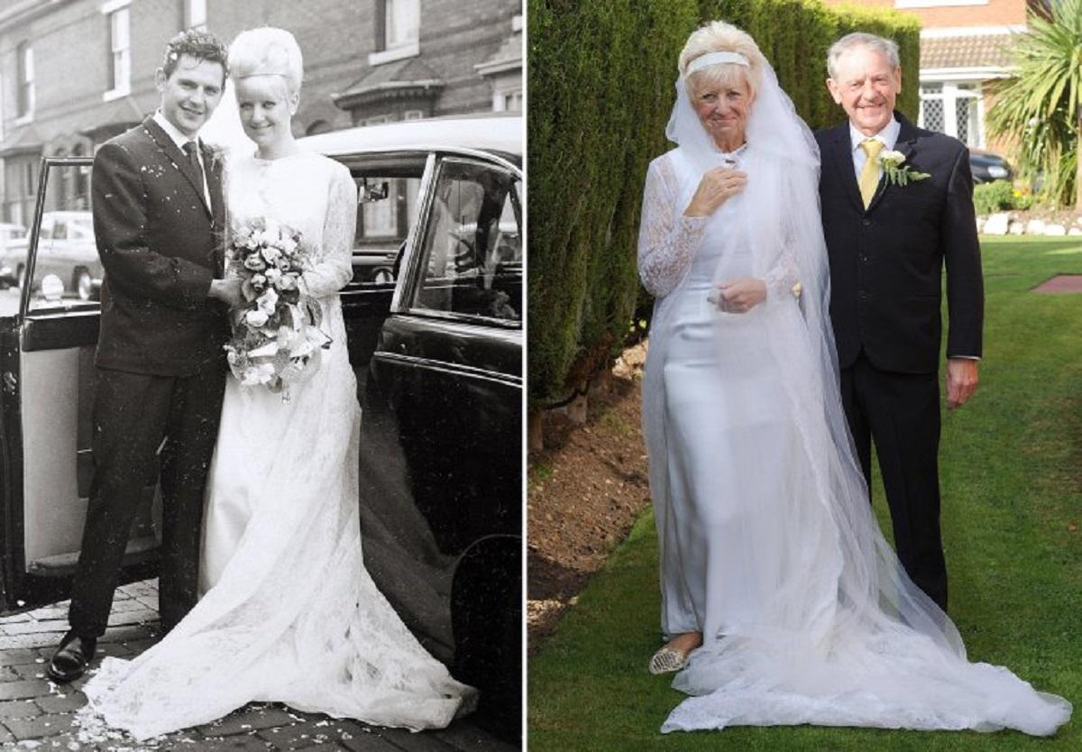 Au sărbătorit 50 de ani de căsătorie în aceleași haine de la nunta din 1966