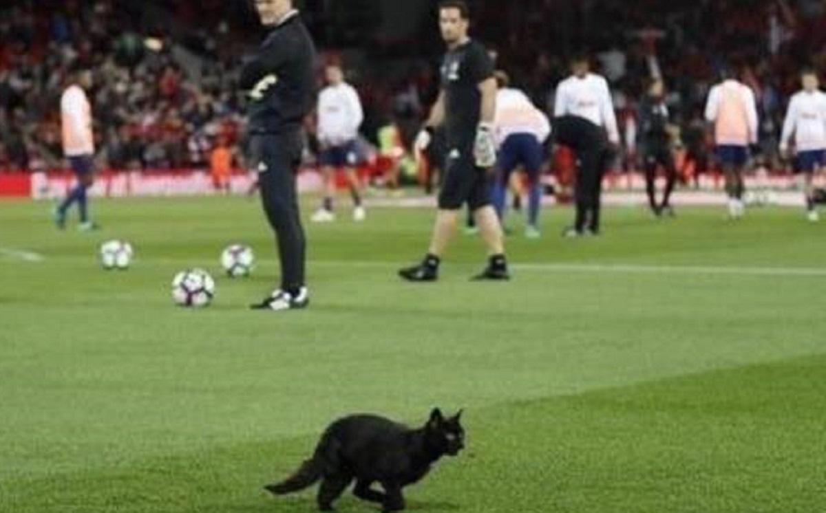 Apariție neașteptată pe teren, în timpul derby-ului dintre Liverpool și Manchester United