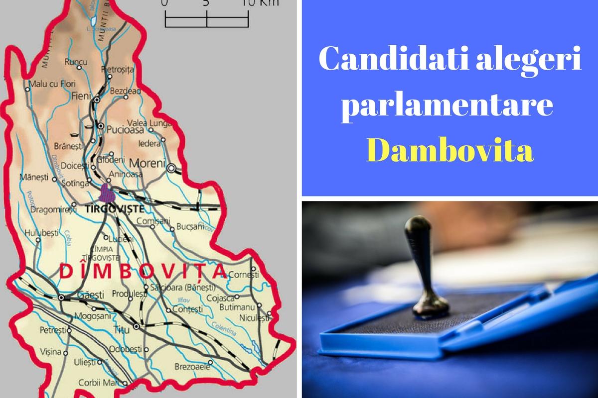 Candidați alegeri parlamentare 2016 Dâmbovița. Listele de candidați ale partidelor pentru Camera deputaților și Senat în județul Dâmbovița.