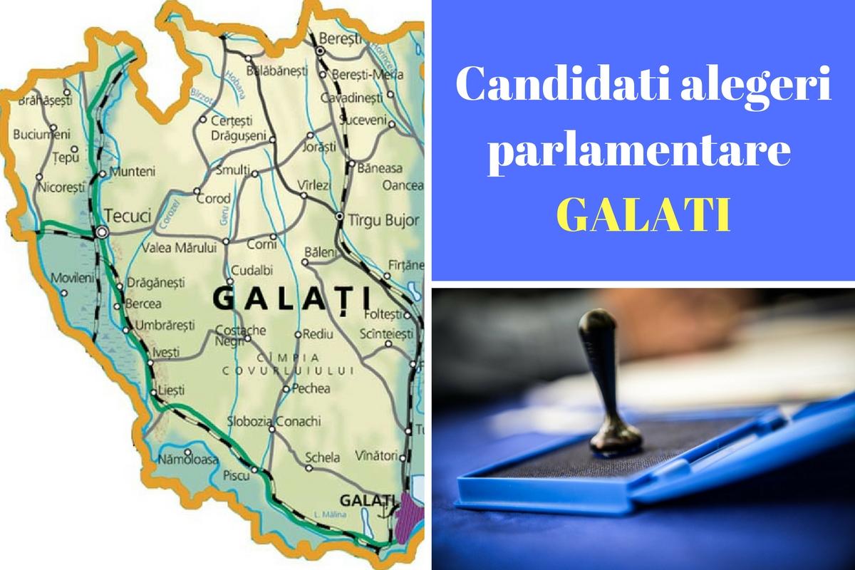 Candidați alegeri parlamentare 2016 Galați. Listele de candidați ale tuturor partidelor pentru Camera deputaților și Senat în județul Galați.